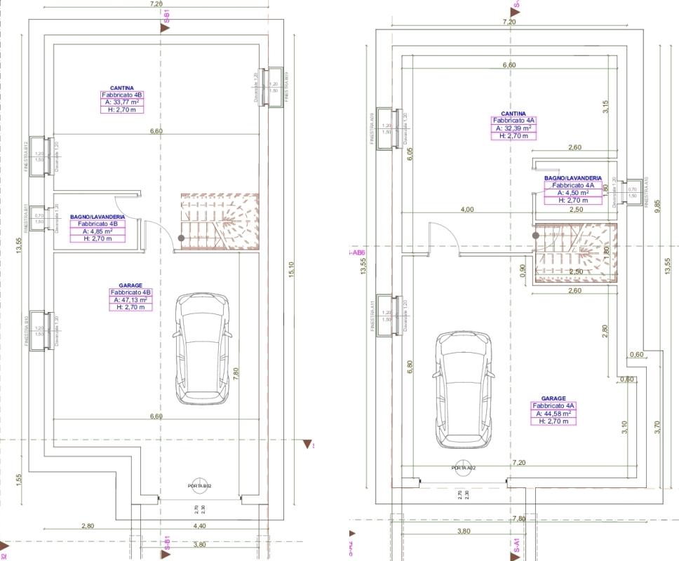Ville con giardino varie composizioni acquasparta for Planimetrie seminterrato
